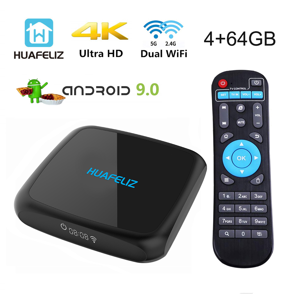 NEW U9 Smart Android TV Box 4K Android 9.0 RK3318 4GB 64GB HDMI USB 3.0 2.4GHz 5GHz WIFI 3D Media Player PK X99 Tv Box  RK3399