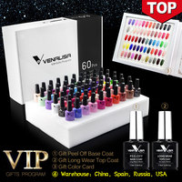 2020 Fast Shipment VIP Kits of VENALISA Nail Gel Polish62pcs/lot Gel Varnish Soak Off UV LED Nail Gel Color Palette Gel Lacquer