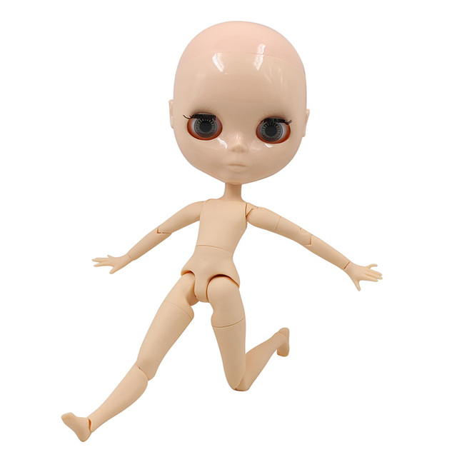 factory blyth doll joint body bjd toy without makeup shiny face for cutom doll DIY 3