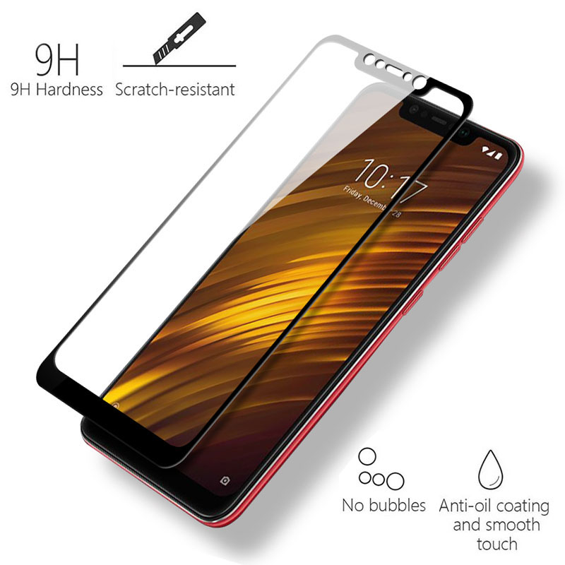 Image 3 - Tempered Glass For Xiaomi Pocophone F1 Screen Protector Protective Xiomi Pocophone F1 Full Cover Pocofone F1 Poco F1 Glass Film-in Phone Screen Protectors from Cellphones & Telecommunications