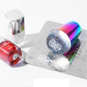 Image 3 - Tampon en Silicone Transparent pour les ongles, timbre holographique, grattoir de vernis, modèle de manucure, transfert dimpressions
