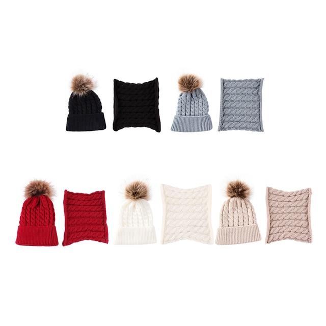 Winter Baby Hat Fur Pompom Knitted Baby Girls Boys Hat Cap Infant Toddler Kids Hat Warm Beanie Kids Children Caps Bonnet