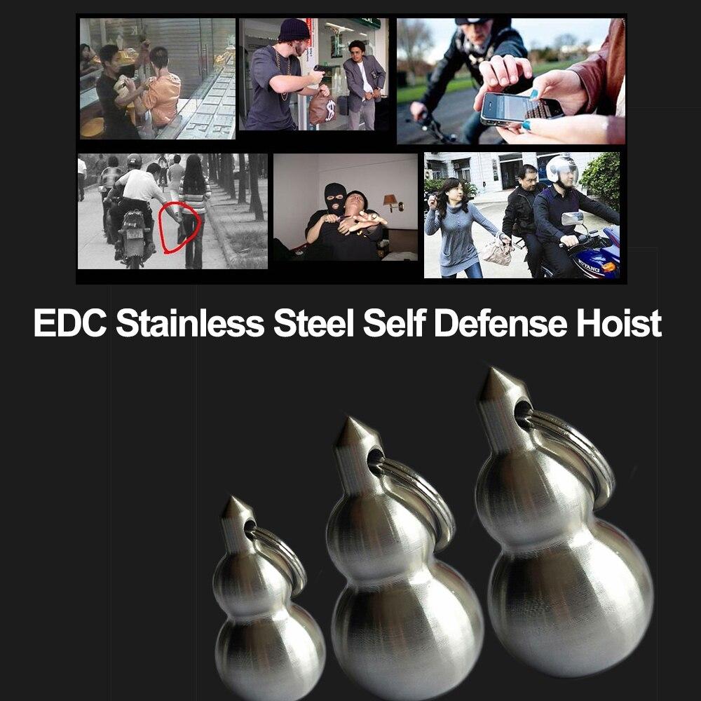 Mini Gourd Meteor Hammer Stainless Steel Solid Defense Equipment Martial Arts Equipment Women's Self-defense Pendant