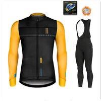 2020 zimowy gorący wełniany kombinezon rowerowy  męski kombinezon rowerowy  outdoorowa odzież sportowa  MTB Bike Bike Uniform Cycling Kit Triathlon Gobike w Zestawy rowerowe od Sport i rozrywka na