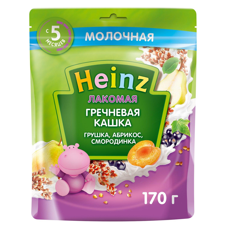 Каша Heinz Лакомая гречневая груша-абрикос-смородина 170г с 5 месяцев