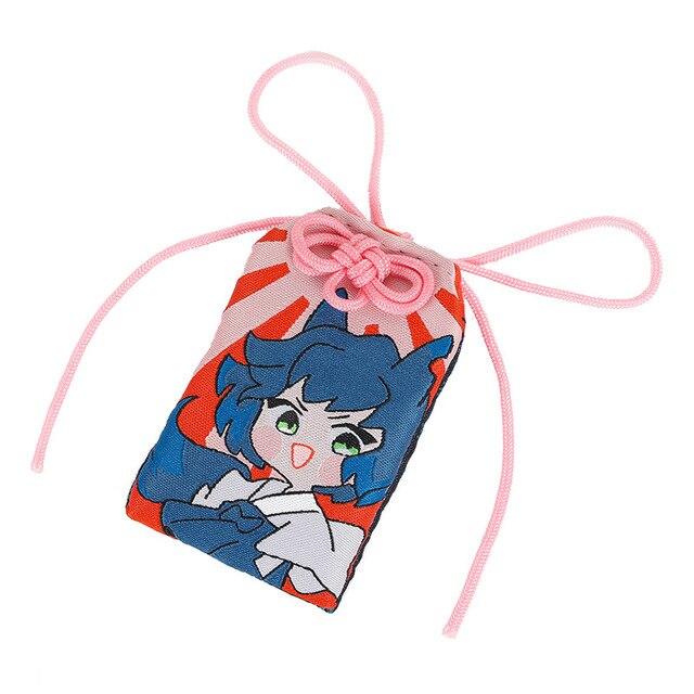 Anime démon tueur Kimetsu No Yaiba Omamori Agatsuma Zenitsu Kamado Tanjirou toile broderie sac chanceux mignon dessin animé bijoux
