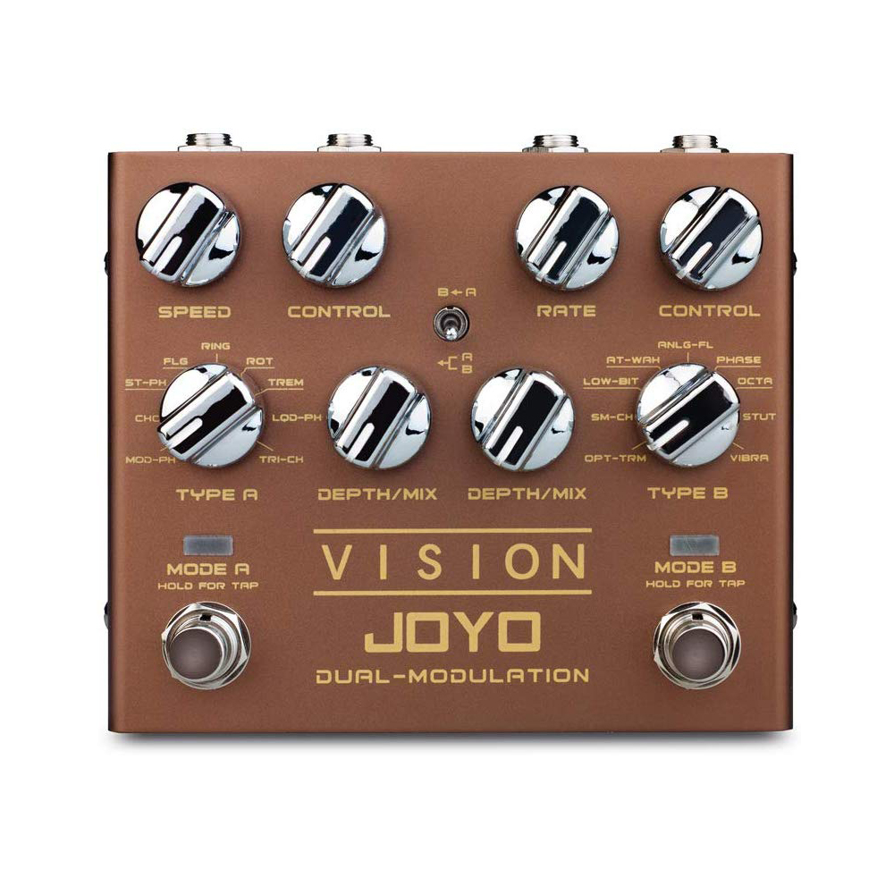 JOYO R-09 Vision Dual Channel Modulation Pedal 9 Effects Support Stereo Input & Output True Bypass  Multi-effect Guitar Pedal