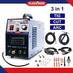 CT312 HF, cortador de plasma, soldadora tig, varilla de arco mma, soldadura de arco TIG, máquina semiautomática multifunción 3 en 1