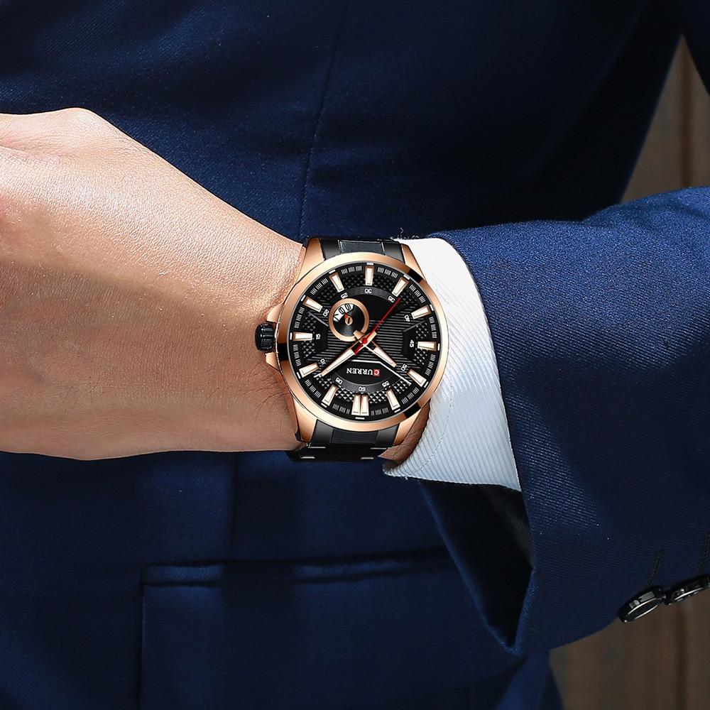 H2d8a2d7c0c684e149d0e8a03829c49766 New Stainless Steel Quartz Men's Watches Fashion CURREN Wrist Watch Causal Business Watch Top Luxury Brand Men Watch Male Clock