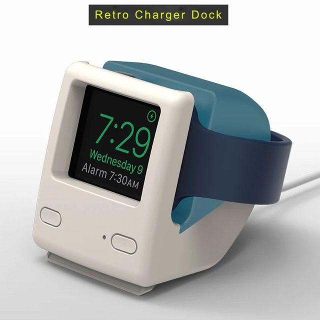 لساعة أبل 2345 جيل سيليكون ريترو شحن حامل Iwatch ساعة ذكية S6 قاعدة شحن الكمبيوتر الكلاسيكية العالمية