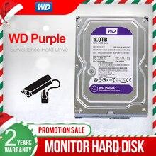 "WD סגול 1TB 3.5 ""קשיח מעקב כונן דיסק עבור אבטחת מערכת WD10EJRX HDD SATAIII DVR CCTV מחשב HDD פנימי כוננים קשיחים"