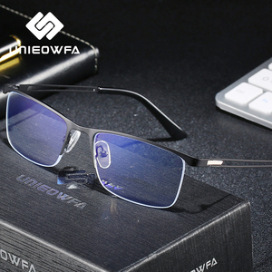Image 2 - Semi Remless Computer Bril Frame Mannen Optische Recept Brillen Frame Clear Bijziendheid Bril Frame Anti Blauw Licht 2020