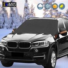 ด้านหน้ากระจกหน้ารถหิมะปกคลุมฤดูหนาวรถยนต์กระจกบังแดดAnti Frost Frost Proof Universal Car Sun Protector
