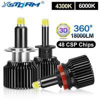 2pcs 48 CSP H1 H3 H7 LED הנורה H8 H11 9005 HB3 9006 HB4 Canbus רכב פנס 18000LM אוטומטי ערפל אורות 4300K 6000K טורבו Led H7|נורות לפנסי רכב ראשיים(LED)|   -