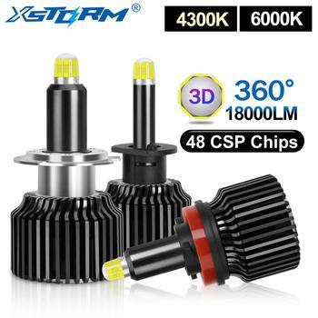 2pcs 48 CSP H1 H3 H7 LED Bulb H8 H11 9005 HB3 9006 HB4 Canbus 3D 360 Degree Car Headlight 18000LM Auto Fog Lights Turbo Led H7
