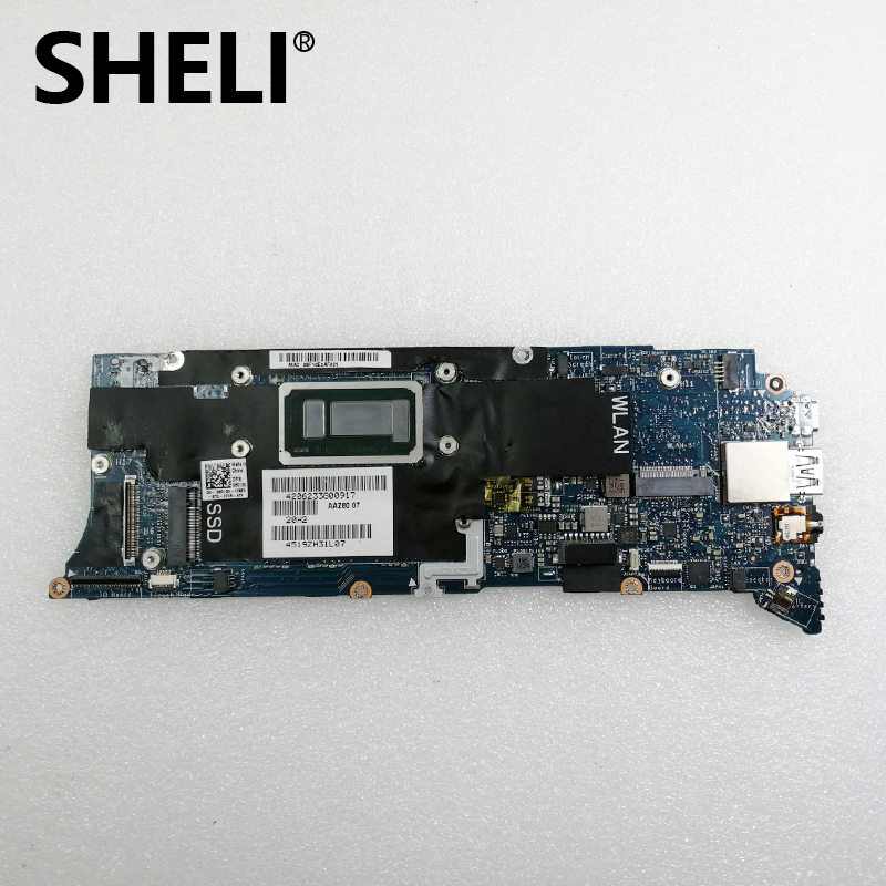 SHELI FOR Dell XPS 13 9350 Laptop Notebook Motherboard 6D13G 06D13G CN-06D13G SR2JB I7-6560U CPU 8GB RAM AAZ80 LA-C881P Test Ok