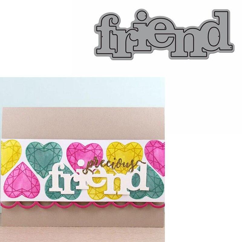 Friend Word Die Cuts For Card Making Friend Word Dies Scrapbooking Metal Cutting Dies New 2019
