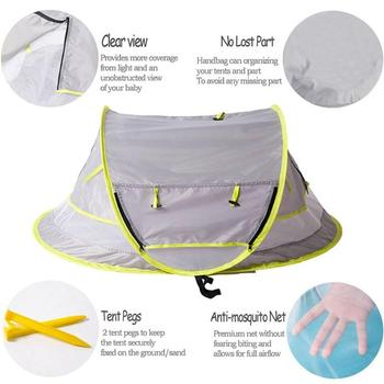 Baby Beach Tent UV Protection Sunshelter Foldable Mosquito Net Kids Outdoor Camping Tents Sunshade Beach Toy Tent Portable outdoor beach tents shelters shade uv protection ultralight tent for fishing picnic park