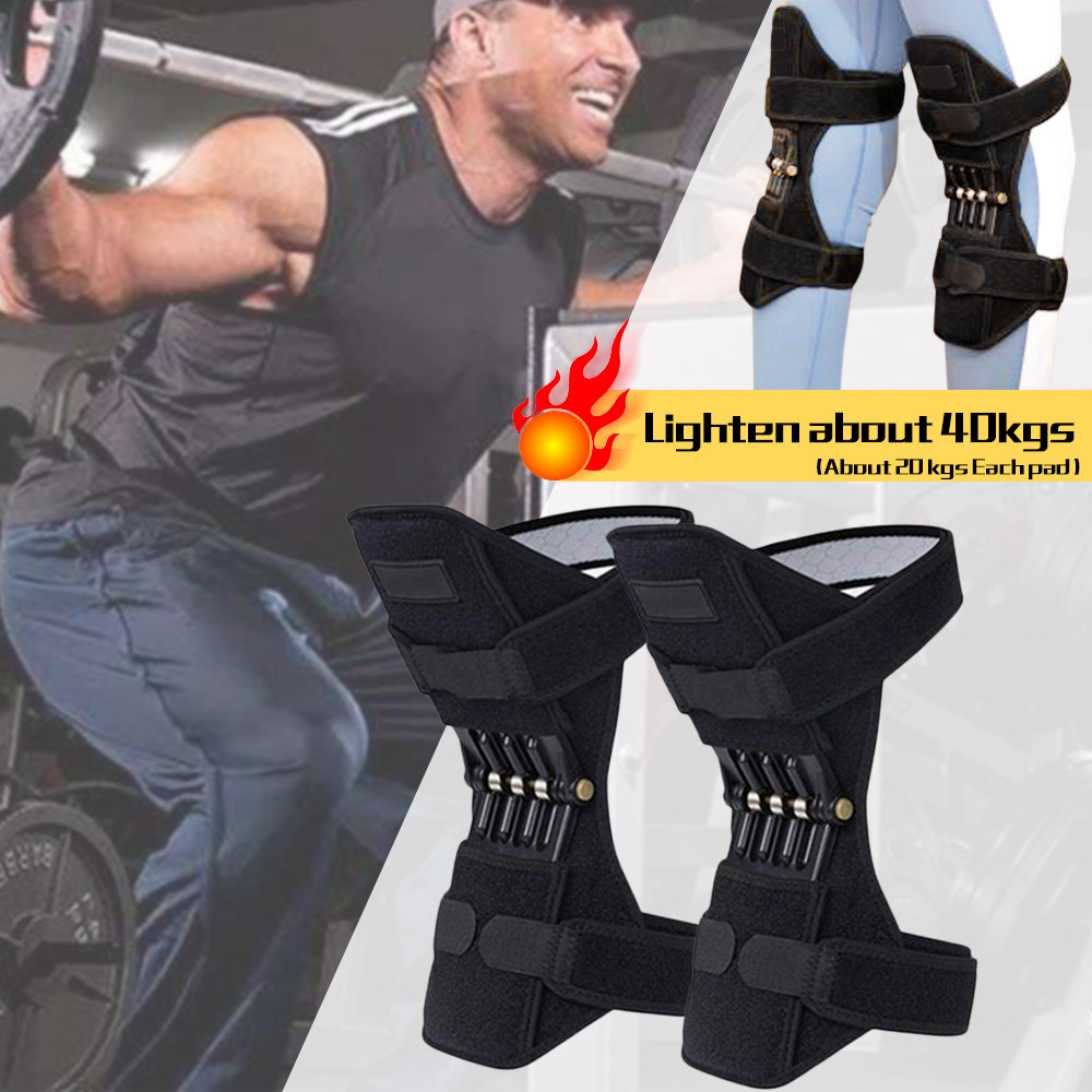 Breathable Non-slip PowerLift Joint Support Knee Pads Powerful Rebound Spring Force Knee Booster Knee Sleeve