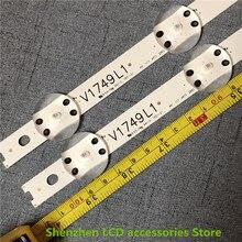 8 ชิ้น/ล็อตใหม่ LED Strip สำหรับ LG 49UV340C 49UJ6565 49UJ670V 49 V17 ART3 2862 2863 6916L 2862A 6916L 2863A V1749R1 V1749L1 ใหม่
