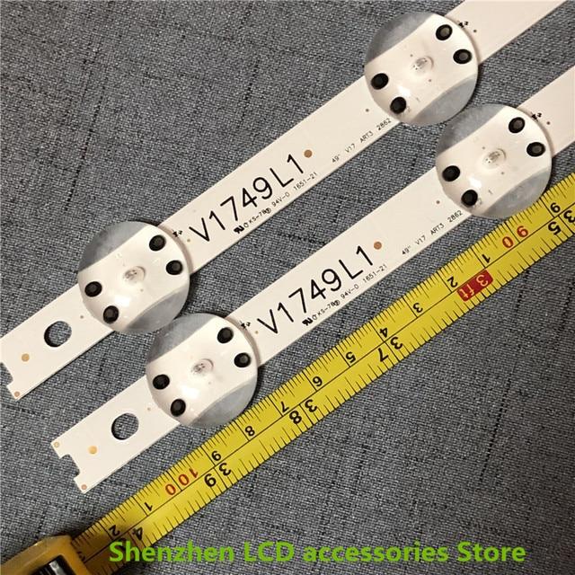 8 stuks/partij Nieuwe LED strip Voor LG 49UV340C 49UJ6565 49UJ670V 49 V17 ART3 2862 2863 6916L 2862A 6916L 2863A V1749R1 V1749L1 NIEUWE