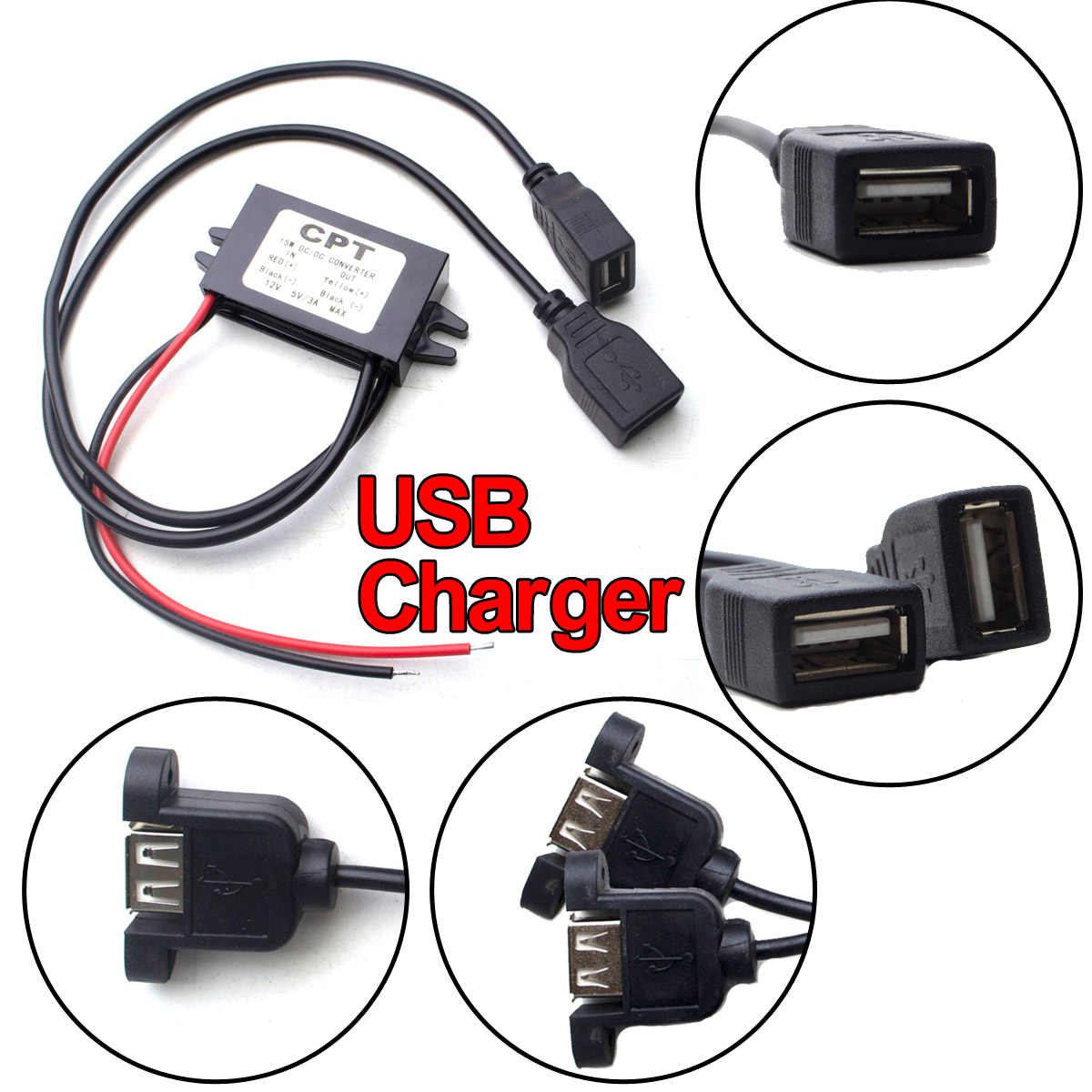 DC-DC 12V untuk 5V 3A 15W Mobil Power Converter Micro Mini USB Step Down Voltage Power Supply output Adaptor Panas Rendah Perlindungan Otomatis