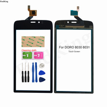 Mobile Touch Screen For DORO 8030 8031 Touch Screen Sensor Digitizer Front Glass Panel Tools 3M Glue
