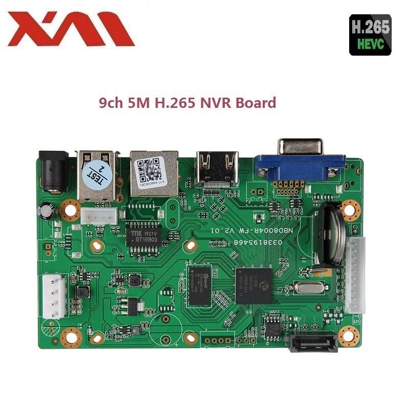 XM оригинальный H.265 9CH 5MP CCTV NVR сетевой видеорегистратор безопасности Поддержка ONVIF HDMI смартфон ПК для IP камеры системы