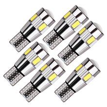 6x t10 w5w led blub canblus 슈퍼 밝은 자동차 인테리어 조명 자동 스타일링 12 v 라이센스 플레이트 방향 신호 램프 오류 무료 194 5w5