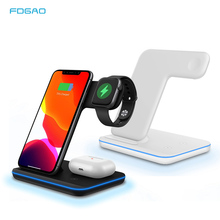 FDGAO 3 in 1 15W Fast Wireless Charger Qi Charging Dock Station For iPhone 11 Pro XS MAX XR 8 For Apple Watch 5 4 3 AirPods pro