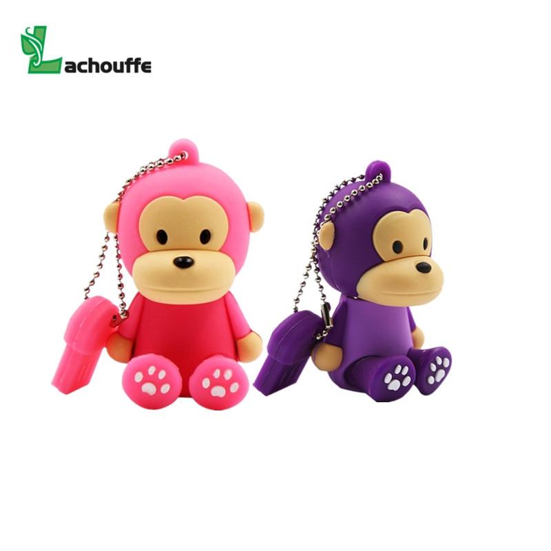 Cartoon monkey Animal Series USB 2.0 Flash drive 128GB 8GB 16GB pen drive 32GB 64GB Pendrive usb Memory Stick