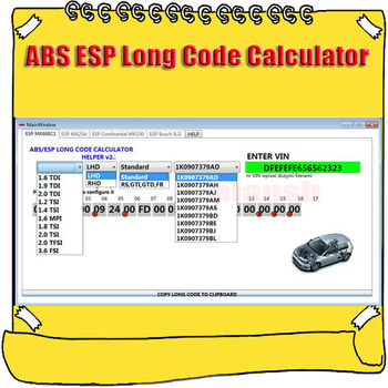 Dla VW ABS ESP kalkulator długiego kodu pomocnika MK60EC1 Maker tanie i dobre opinie alansh ABS EPC CALCULOR none Oprogramowanie Other windown xp vista 7 8 10 32bit or 64bit OS