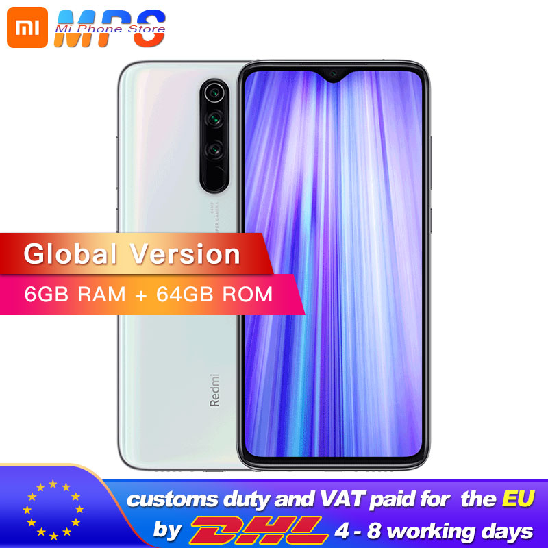 Global Version Xiaomi Redmi Note 8 Pro 6GB 64GB Smartphone 64MP Quad Camera Helio G90T Octa Core 4500mAh NFC