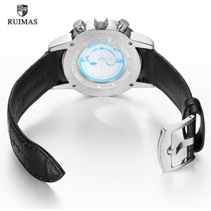 Image 5 - RUIMAS Automatic Military Watches Waterproof Sports Wristwatch Leather Strap Mechanical Watch Man Relogios Masculino Clock 6767