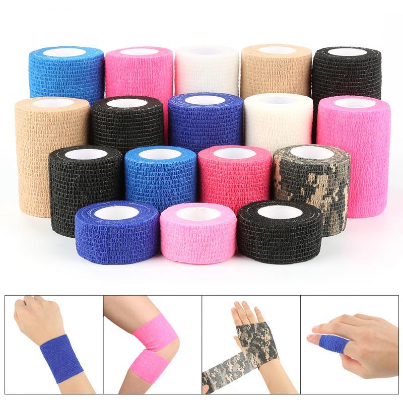 Self-Adhesive Elastic Bandage First Aid Medical Health Care Treatment Elastic Wrap First Aid Sports Body Gauze Vet Medical Tape