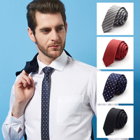 High Quality 2019 New Silk Wedding Ties for Men Tie slim 5cm Necktie Designers Brand 2.36 Inches Solid Neck Tie with Gift Box