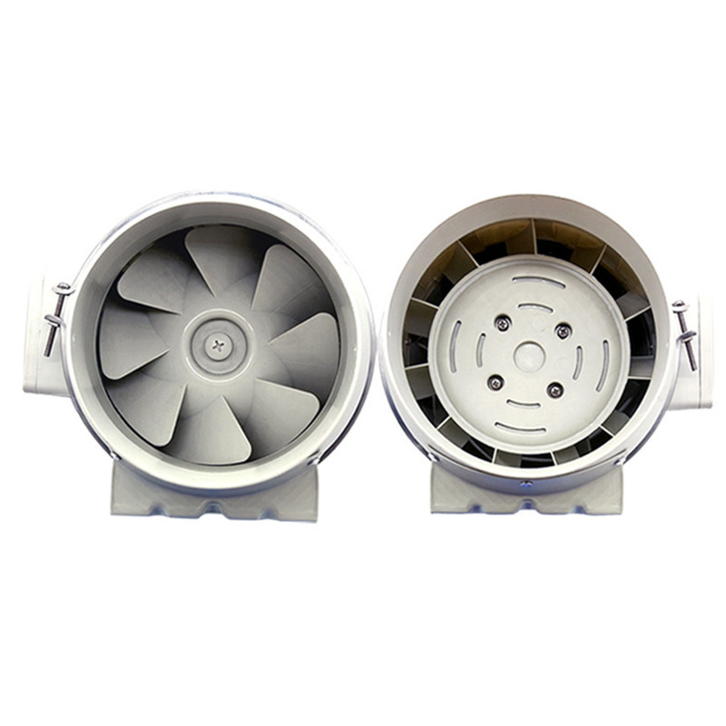 8in Extractor fan duct inline extraction exhaust ventilation fan air blower window ventilator vent for kitchen bathrooms bedroom