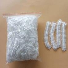 50 pçs/lote tampas de chuveiro descartáveis chapéu claro spa cabeleireiro hotel único banho elástico touca de banho produtos de banho tampões de banho