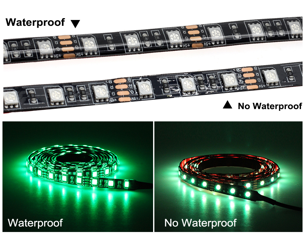 H2d8c2a75a87e4de9b3610369d74a6604L USB LED Strip 5050 RGB Changeable 5V Waterproof / No Waterproof 0.5m 1m 2m with USB Controller Set DIY TV Decoration LED Light.