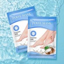 Socks Foot-Mask Patch Heel-Creams Dead-Skin-Removal-Repair Feet Whitening Peel Coconut-Milk-Exfoliating-Foot