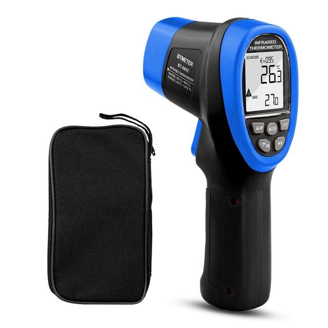 BTMETER BT 985C Infrared Thermometer Gun Non Contact 16:1 IR Laser Temperature Gun Digital Instant Read for Kitchen