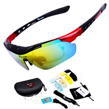 Road Bike Cycling Glasses Polarized Glasses 5 lens Outdoor Bicycle Sunglasses Cycling Eyewear Accessories