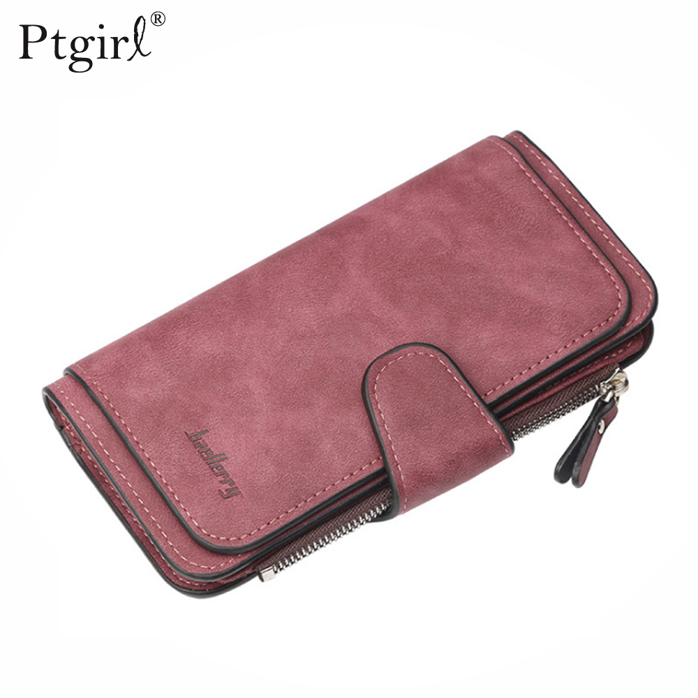 Baellerry Leather Women Wallets Coin Pocket Hasp Card Holder Money Bags Ptgirl Casual Long Ladies Clutch Phone Wallet Carteira