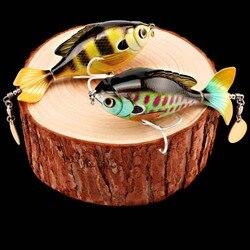 Isca isca dura hélice trator flutuante sangue calha gancho rotativa lantejoulas multicolorido empresa pelagic
