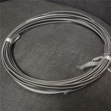 10 Meters 4/5x1.8mm Roll Spiral Stainless Steel Bone Wholesale for Underwear Corset Spiral Metallic Boning