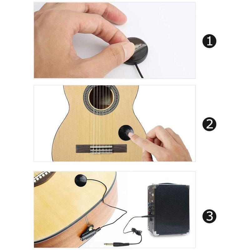 Guitarra acústica captador piezo transdutor contato captador para guitarra popular ukulele violino bandolin banjo kalimba harpa acessórios-4