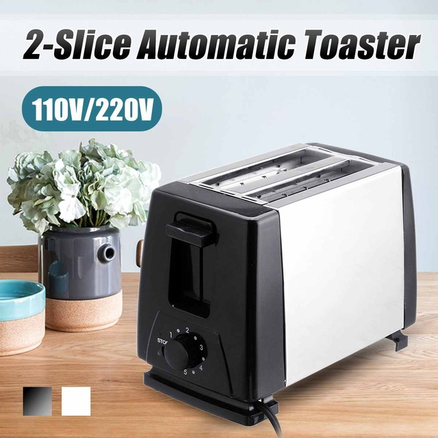 110V/220V Electric Toaster Household 6 Gears Automatic Bread Baking Maker Breakfast Machine Toast Sandwich Grill Oven 2 Slice