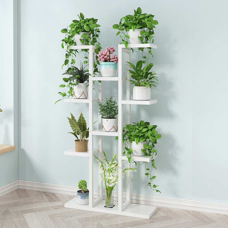 Multi-storey Room Introspection Space Iron Art Flower Rack Multi-storey  Balcony Flowerpot Shelves Household