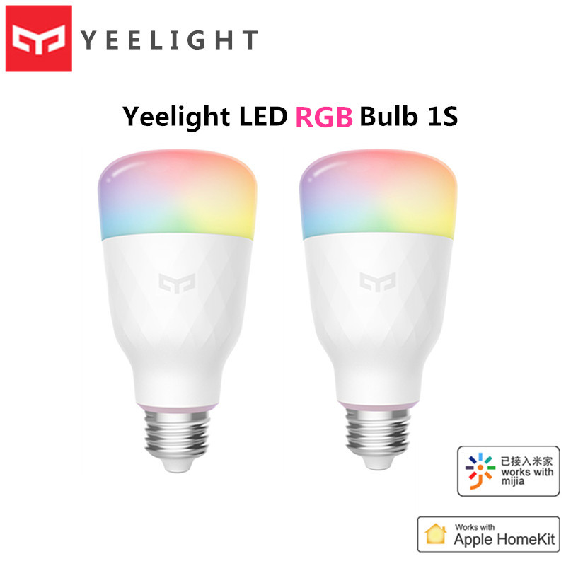 Xiaomi Yeelight LED Bulb 1S 8.5W RBGW AC100-240V E27 800lm Lumens Smart WiFi Light Bulbs Mi Home Apple Homekit Remote Control