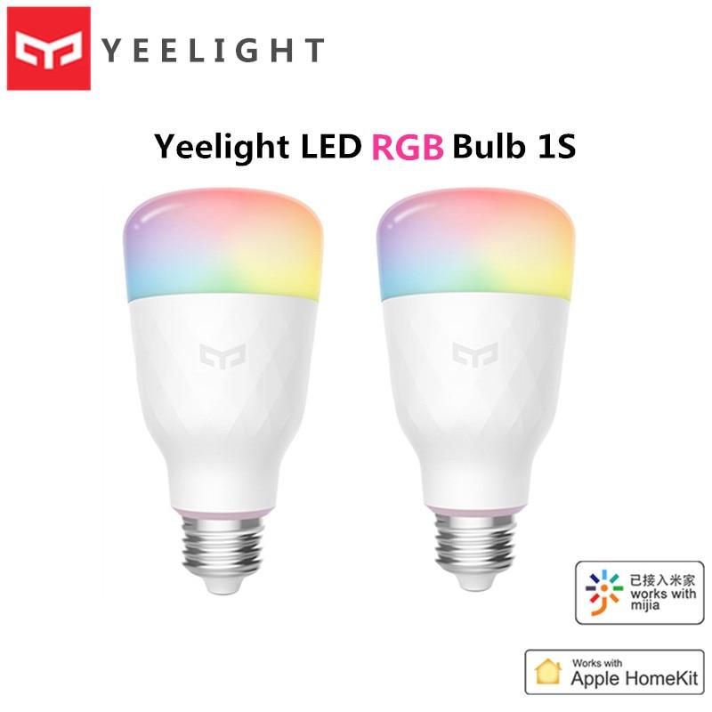 Xiaomi Yeelight LED Bulb 1S 8.5W RBGW AC100-240V E27 800lm Lumens Smart WiFi Light Bulbs Mi Home Apple Homekit Remote Control